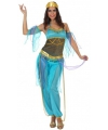 Blauwe Arabische dame outfit