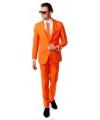 Oranje kostuum inclusief stropdas